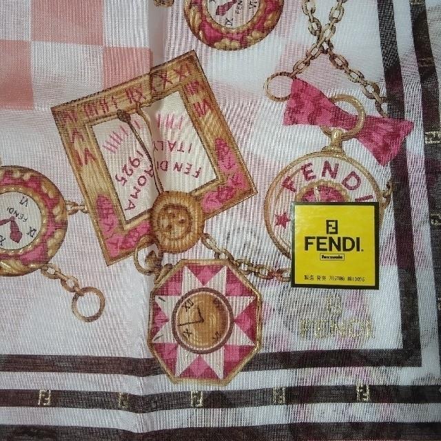 FENDI(フェンディ)のFENDI新品ハンカチ      💚⑦💚2枚組 レディースのファッション小物(ハンカチ)の商品写真