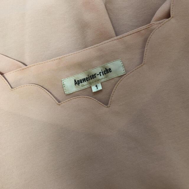 Apuweiser-riche(アプワイザーリッシェ)のApuweiser-riche ブラウス 半袖 S ピンク スカラップ レディースのトップス(シャツ/ブラウス(半袖/袖なし))の商品写真