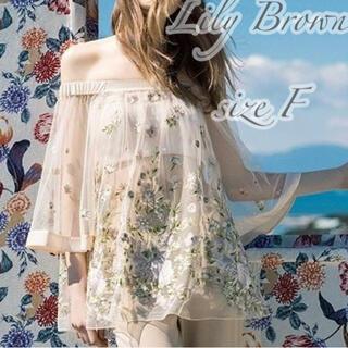 Lily Brown - Lily Brown リリーブラウン チュール刺繍チュニック Fサイズ