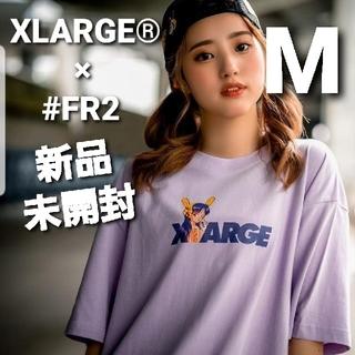 エクストララージ(XLARGE)のXLARGE #FR2 Biker Girl Logo Tシャツ 紫 M(Tシャツ/カットソー(半袖/袖なし))
