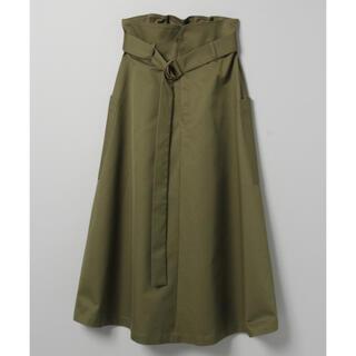 JEANASIS - ジーナシス ミリタリーポケットスカート ハイウエストスカート