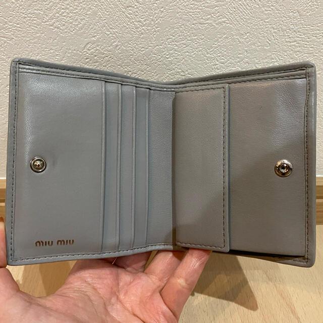 miumiu(ミュウミュウ)のmiumiu★二つ折り財布 【週末限定セール!】 レディースのファッション小物(財布)の商品写真