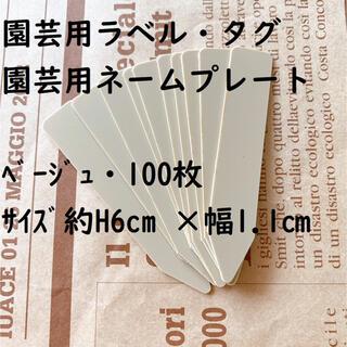 園芸ラベル ベージュ 100枚(その他)