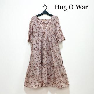 ハグオーワー(Hug O War)のHug O War ハグオーワー ミモレ丈リバティワンピース コットン100%(ロングワンピース/マキシワンピース)