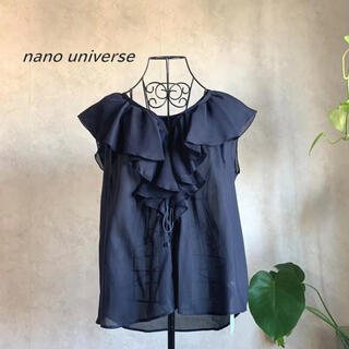 ナノユニバース(nano・universe)の【新品未使用タグ付き】ナノユニバース  ラッフルレースアップブラウス(シャツ/ブラウス(半袖/袖なし))