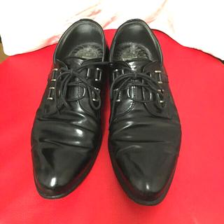 ジャンニヴェルサーチ(Gianni Versace)のジャンニヴェルサーチ レースアップシューズ レディース 25センチ(ローファー/革靴)