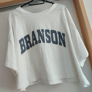 しまむら - カレッジロゴ 短丈Tシャツ ホワイト