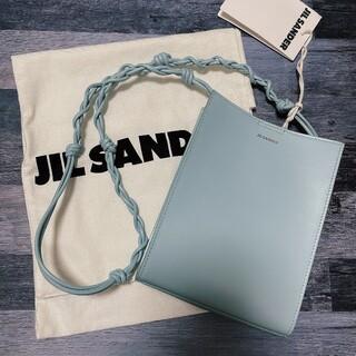 Jil Sander - 【新品未使用】 ジルサンダー タングル レザー ショルダーバッグ ライトブルー