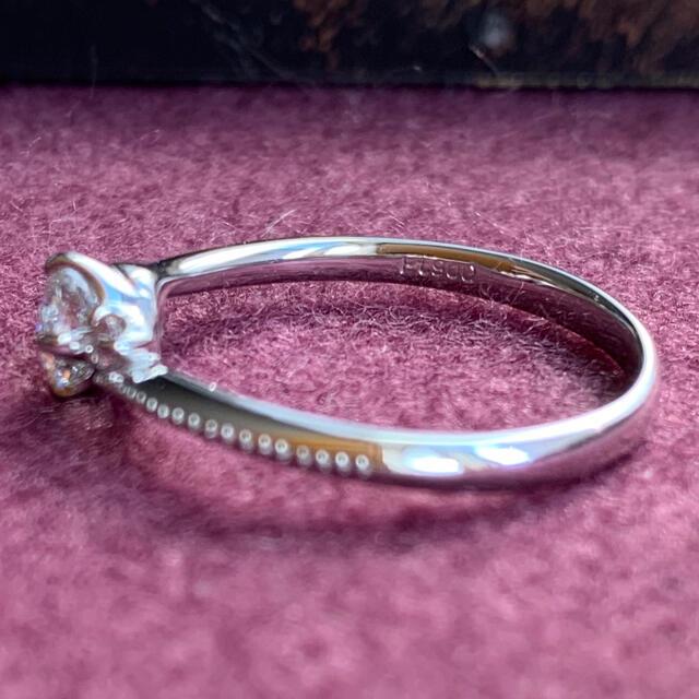 まーち様専用 pt900ミル打ち ダイヤモンドリング ピンクダイヤ 鑑定書付 レディースのアクセサリー(リング(指輪))の商品写真