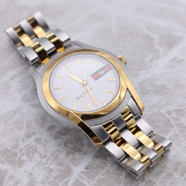 Gucci(グッチ)の正規品【新品電池】GUCCI 5500XL/動作良好 人気モデル メンズ メンズの時計(腕時計(アナログ))の商品写真