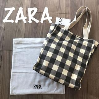 ザラ(ZARA)の新品 ZARA ザラ ギンガムチェックトートバッグ(トートバッグ)