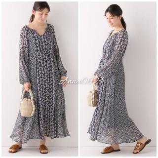 イエナ(IENA)の【新品タグ付き】 2020ss SHIPS購入 ヌキテパ ワンピース ドレス(ロングワンピース/マキシワンピース)