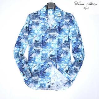 ブルネロクチネリ(BRUNELLO CUCINELLI)のチェザーレアットリーニ 9万新品最高級柄シャツ(シャツ)