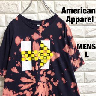 American Apparel - アメリカ古着 アメリカンアパレル ブリーチ加工 Tシャツ メンズLサイズ