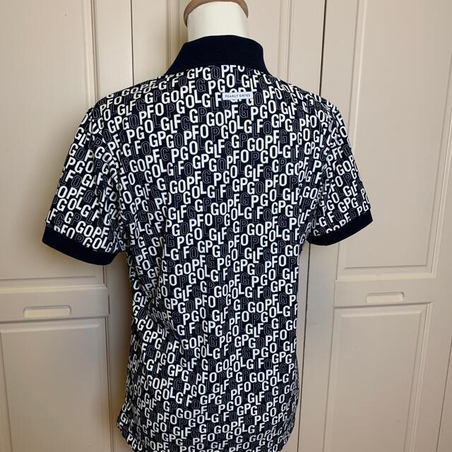 PEARLY GATES(パーリーゲイツ)のパーリーゲイツメンズ半袖PG プリントポロシャツ 黒 4サイズ スポーツ/アウトドアのゴルフ(ウエア)の商品写真
