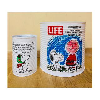 スヌーピー(SNOOPY)のスヌーピー リメ缶 リメイク缶 多肉植物 サボテン(プランター)