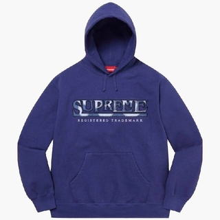 Supreme - Supreme Denim Logo Hooded Sweatshirt