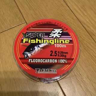 フロロライン2.5号 フロロカーボン100% 2.5号 100m ハリス 道糸(釣り糸/ライン)