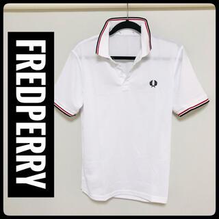 フレッドペリー(FRED PERRY)の【新品未使用】FREDPERRY(フレッドペリー)★半袖ポロシャツ★白L★(ポロシャツ)