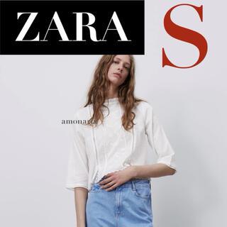 ZARA - 【7/29まで限定出品*新品】ZARA エンブロイダリーブラウス 刺繍ブラウス