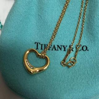 Tiffany & Co. - ティファニー オープンハートダイヤモンドネックレス k18 美品