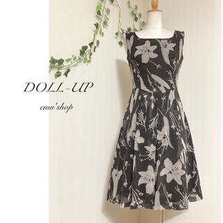 doll up oops - ドールアップ ◆ リリープリントシフォンワンピース ✽ 日本製