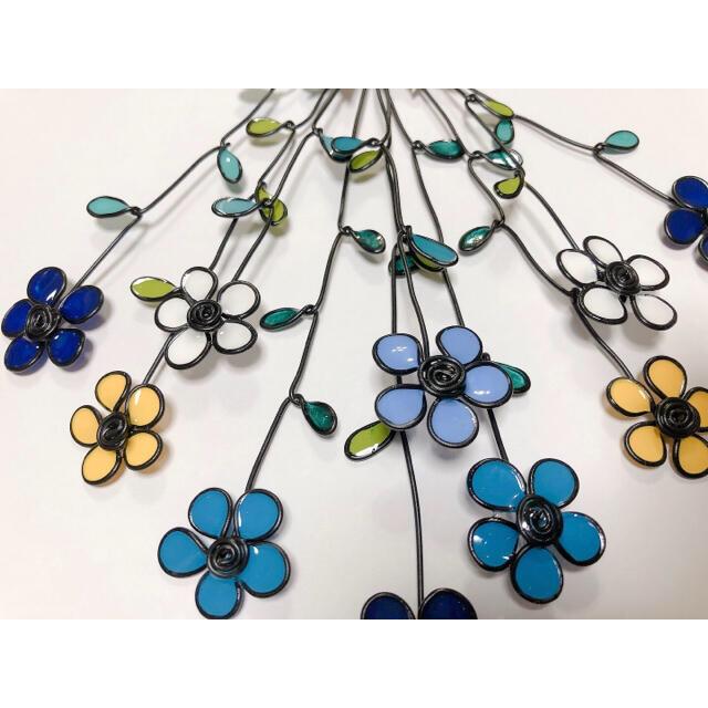 お花の壁飾り・ドライフラワー、スワッグ風☆ワイヤークラフト ハンドメイドのフラワー/ガーデン(その他)の商品写真