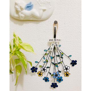 お花の壁飾り・ドライフラワー、スワッグ風☆ワイヤークラフト