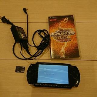 PlayStation Portable - 美品☆psp本体☆黒2 新品バッテリー、充電器、メモリー、ゲーム付き。動作OK