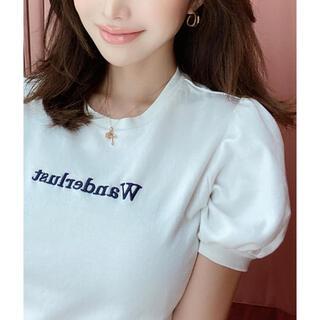 エイミーイストワール(eimy istoire)のeimy istoire♡Wanderlust パフスリーブTシャツ(Tシャツ(半袖/袖なし))
