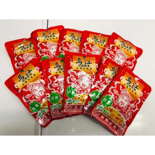 乌江榨菜 烏江ザーサイ 鲜脆榨菜丝 清爽味 80g 10袋(漬物)