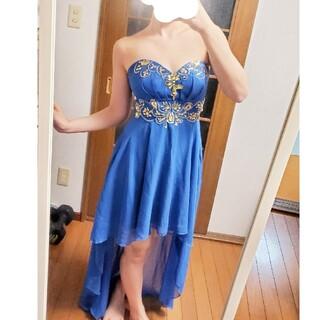 AngelR - ビジュー付き 前ミニロング ドレス