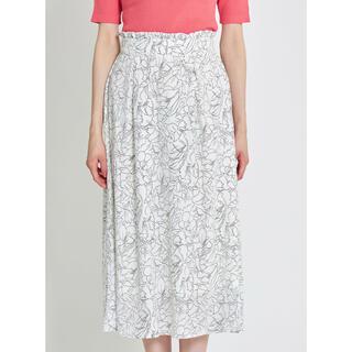 tocco - tocco closet ウエストプチフリル付きラインフラワーフレアスカート