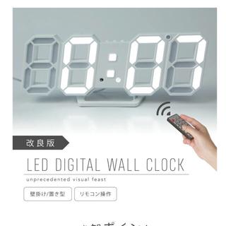 3D ledデジタル時計 リモコン付き small最新改良型 正規品