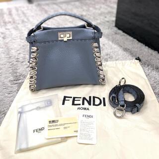 FENDI - 極美品 FENDI フェンディ ミニピーカブー セレリア 水色