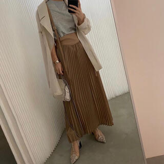 Ameri VINTAGE - Ameri Vintageサスペンダー付きプリーツスカート