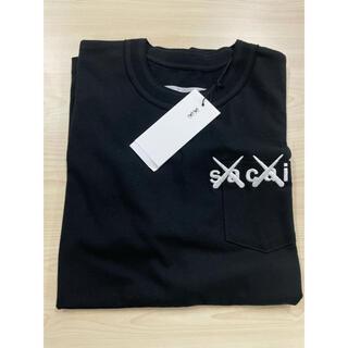sacai - sacai KAWS Tシャツ 2 M Black 黒 刺繍 サカイ カウズ