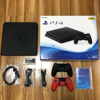 PlayStation4 - 【PlayStation4】プレステ4 本体(欠品無)+純正コントローラー(赤)
