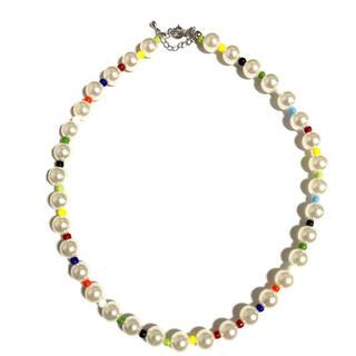 ジエダ(Jieda)のMulticolored Beas and Perl Necklace(ネックレス)