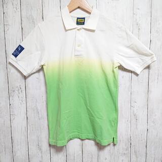 エクストララージ(XLARGE)の美品☆XLARGE メンズ ポロシャツ 白・黄緑 ゴリラ(ポロシャツ)