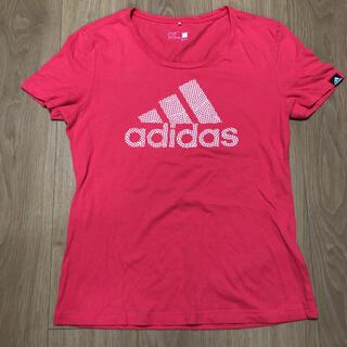 アディダス(adidas)のアディダス Tシャツ レディース Lサイズ(Tシャツ/カットソー(半袖/袖なし))