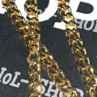 【送料込み】18K Plated GOLD 2面シングル 喜平ネックレス