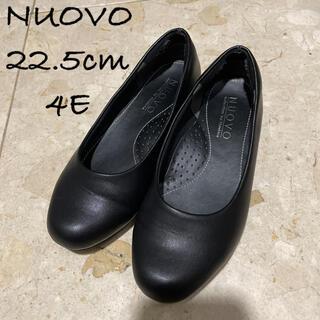 ヌォーボ(Nuovo)の幅広 フォーマル 黒パンプス 就活 冠婚葬祭(ハイヒール/パンプス)