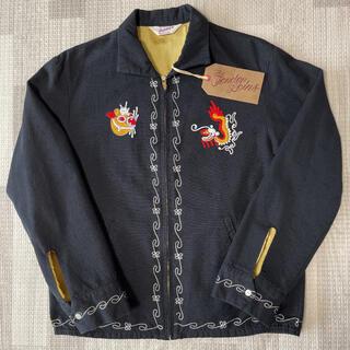 テンダーロイン(TENDERLOIN)の希少品! TENDERLOIN スーベニアジャケット チャイナ ブラック 黒 S(スカジャン)