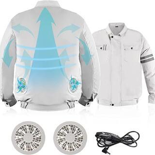 最新型空調服 空調服 作業着 空冷服 最新型空調服 強力 ファン付き