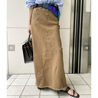 L'Appartement DEUXIEME CLASSE - アパルトモンGOOD GRIEF!A Line Fringe Hem Skirt