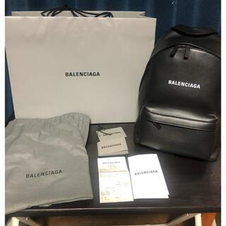 BALENCIAGA BAG - BALENCIAGA バレンシアガ オールレザー エブリデイ バック リュック