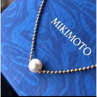 ミキモト(MIKIMOTO)のMIKIMOTOミキモト ペンダント パールネックレス アコヤ7mm K18(ネックレス)