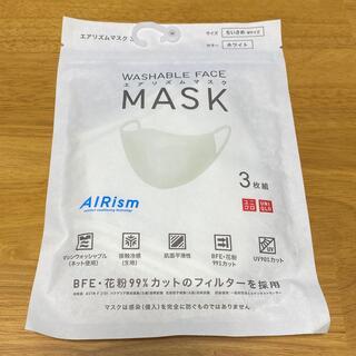 ユニクロ(UNIQLO)の【新品未使用】ユニクロ エアリズムマスク Mサイズ ホワイト(その他)