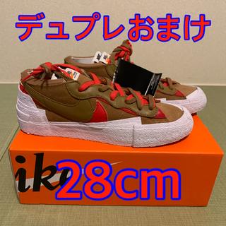 ナイキ(NIKE)のNIKE x sacai Blazer Low BRITISH TAN 28cm(スニーカー)